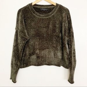 Romeo + Juliet Velvet Dropped Shoulder Sweater